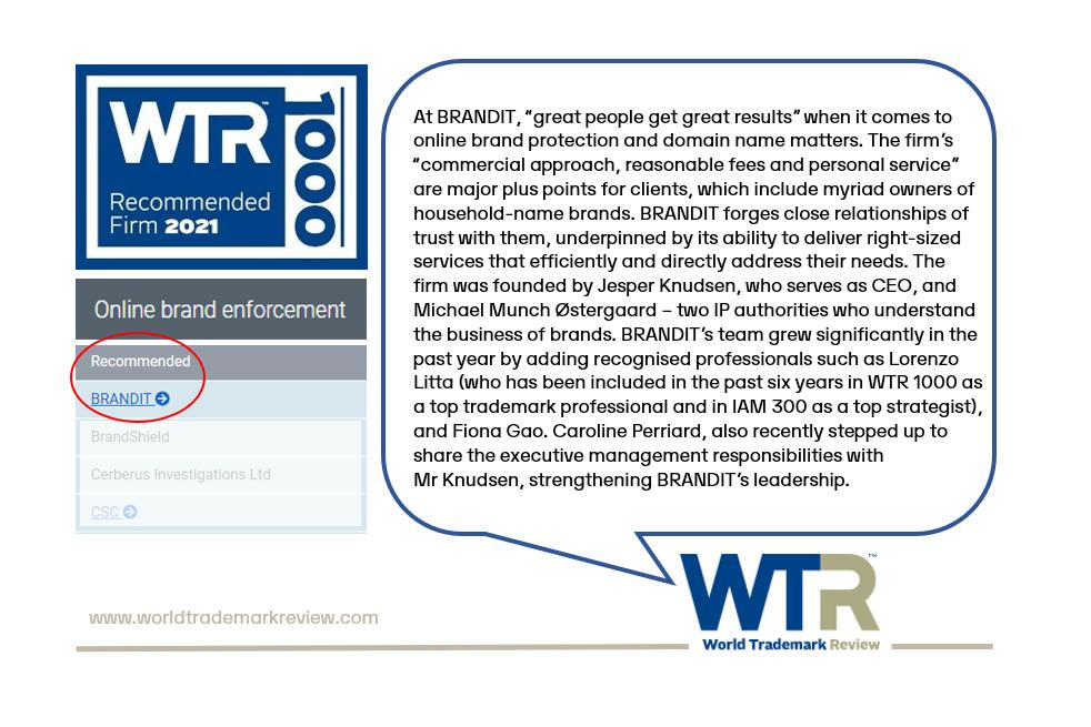 WTR100 – 2021 Review Published